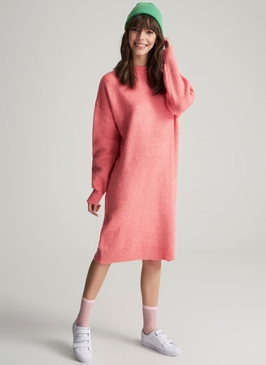 Oversize Triko Elbise-Agenda